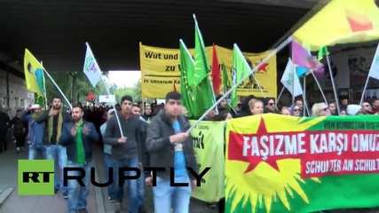 Germany: Thousands of Kurdish supporters protest in pro-PKK demo
