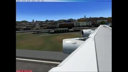fsx Airbus a380 landing at kai tak