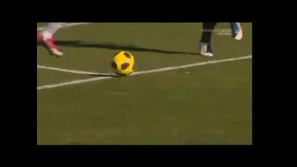 Cagliari - Palermo gol di Javier Pastore