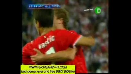 Австрия изравнява с дузпа на Полша за 1:1! ЕВРО 2008 - 12.06.2008 HQ