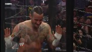Randy Orton executes a draping Ddt on Sheamus: Elimination Chamber 2011