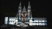 Светлинно шоу на катедралата в Испания Сантяго