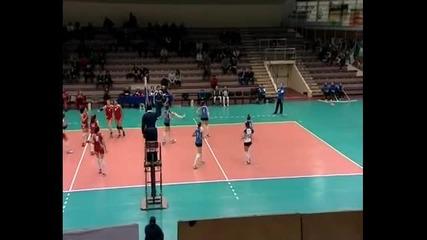 Волейбол жени: Левски - ЦСКА 3:2 гейма