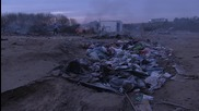 France: Refugees burn their belongings at destroyed camp in Calais