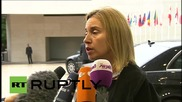 Luxembourg: Mogherini talks combatting people trafficking and Iranian nuclear deal