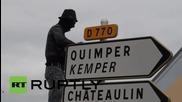 France: Protesters revolt outside police grenade factory