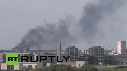 Germany: Smoke billows from reported refugee housing centre in Berlin