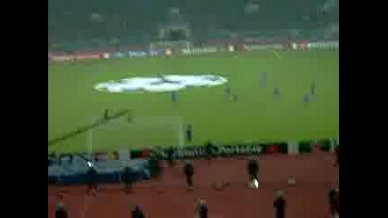 Агитката На Мача Левски - Барселона