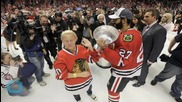 Chicago Blackhawks -- Topless Turn Up W/ Stanley Cup