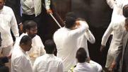 Sri Lanka: Brawl erupts in Sri Lankan parliament over PM dispute