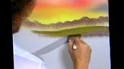 S10 Радостта на живописта с Bob Ross E02 - барака в залез слънце ღобучение в рисуване, живописღ