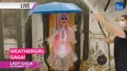 Прогнозата за времето с... Лейди Гага!