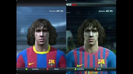 Pes 2012 vs Pes 2011 Faces