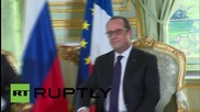 France: Putin meets with Hollande ahead of Normandy Format talks