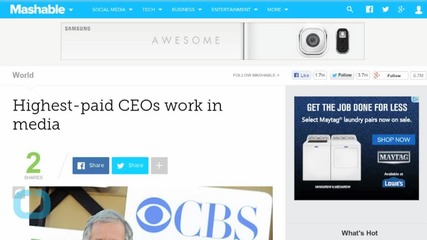 Highest-paid CEOs Work in Media