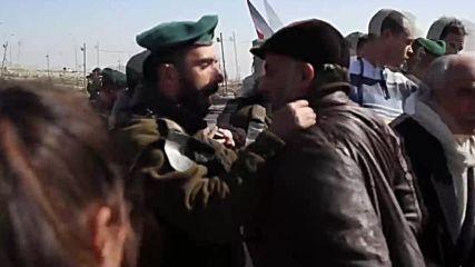 State of Palestine: Israeli forces stun grenade protesters blocking 'apartheid road'