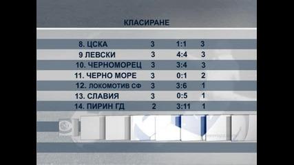 """""""Левски"""" записа първа победа за сезона след 2:0 като гост на """"Пирин"""" (Гоце Делчев)"""