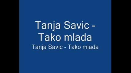 Tanja Savic-Tako mlada