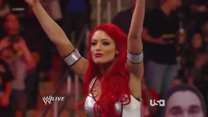 Eva Marie, Jojo & Natalya vs. Aksana, Alicia Fox & Rosa Mendes (първият мач на Eva Marie)