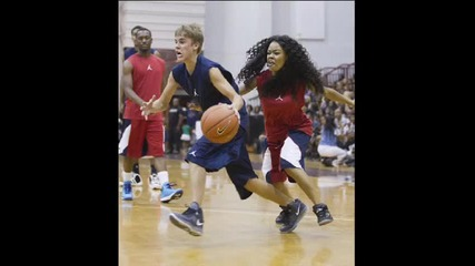 Jb & Ludacris на баскетболен мач в Атланта