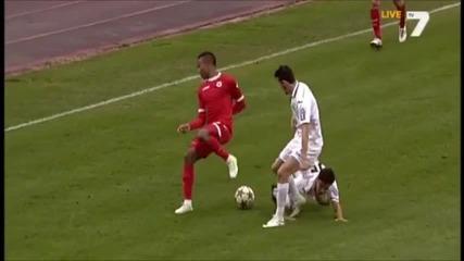 Тони Силва срещу Славия в дебюта си на Българска армия
