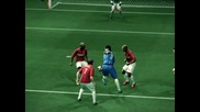 Дрогба навързва цялата защита на Арсенал и отбелязва! Pes 2010