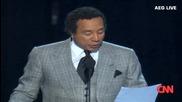 Нелсън Мандела на погребението на Майкъл Джексън