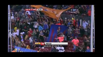 Barcelona Zaragozza 5 1 Messi