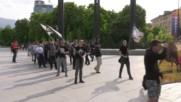 Български националисти протестират срещу малцинствата и бежанците в София