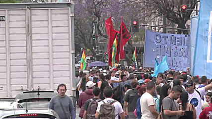Argentina: Hundreds protest Morales's resignation in Buenos Aires