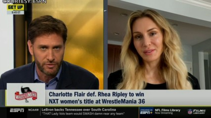"""Charlotte Flair joins ESPN's """"Get Up"""""""