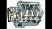 3d анимация на функцията на двигател V8