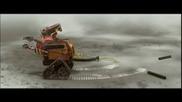 Wall.e и прахосмукачката :д(анимация)