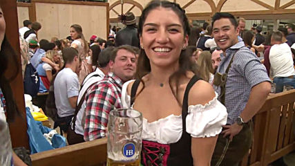 Germany: Thousands pack Hofbrau tent as Oktoberfest kicks off in Munich