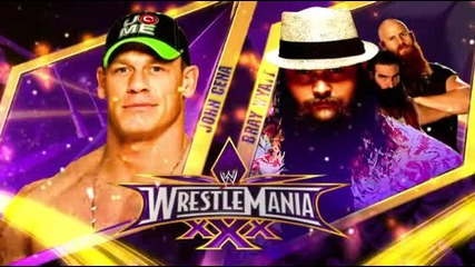 Wrestlemania 30 John Cena Vs Bray Wayat +promo Hd