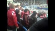 Черноморец - Ц С К А 2:0 Факли от агитката на Ц С К А