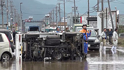 Japan: Nagano flooded as Chikuma River overflows after Typhoon Hagibis