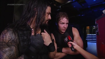 raw backstage pass 9th june, 2014 the shield celebrate and interview