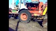 Запалване на трактор Хтз Т - 150к с пусков двигател