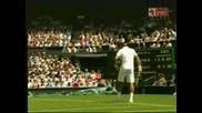 Wimbledon - Federer - Hrbaty - 1:1 Трети Сет!