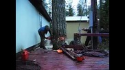 Гениално рязане на дърво