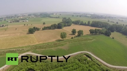 Italy: Drone shows bird's eye view of world's LARGEST labyrinth