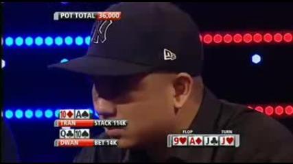 Tom Durrr Dwan bluffing full house Insane