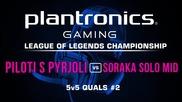 Piloti s Pyrjoli vs Soraka Solo Mid - Plantronics LoL Championship #2