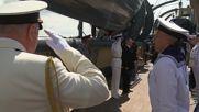 Russia: Putin visits legendary Aurora cruiser on Russia's Navy Day