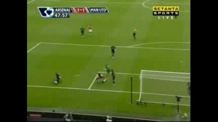 Arsenal : Man Utd 1:1 - Fabregas Goal