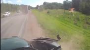 Нетърпелив шофьор причинява опустошителна катастрофа