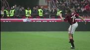Шантаво Видео от загрявката на Милан - Бари