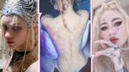"""""""Белези от извънземни"""": Половинката на Илон Мъск шашна с нов татус на гърба"""