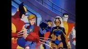 Начална сцена от култовият анимационен филм Гордостта на Х- Мен (1989)